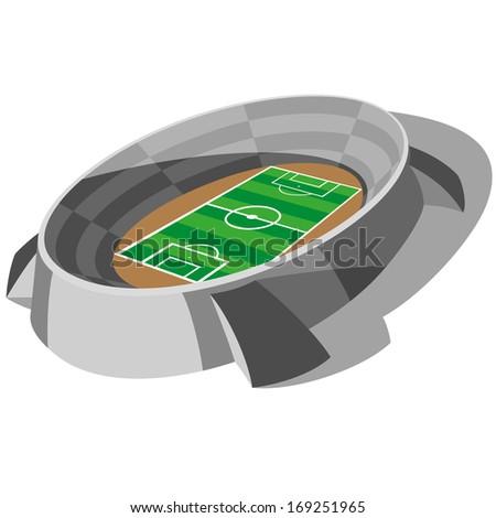 Football Soccer Stadium Vector - stock vector