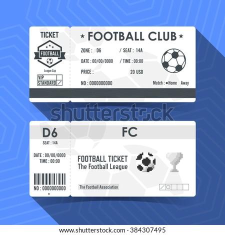 Football, Soccer Ticket Design. Vector illustration. - stock vector
