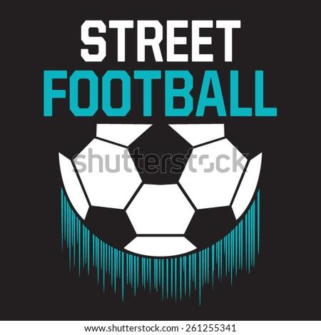 Football soccer typography, t-shirt graphics, vectors - stock vector