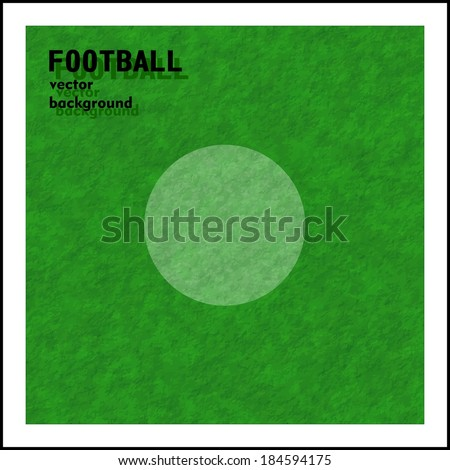 football (soccer) vector background, a penalty marker point - stock vector