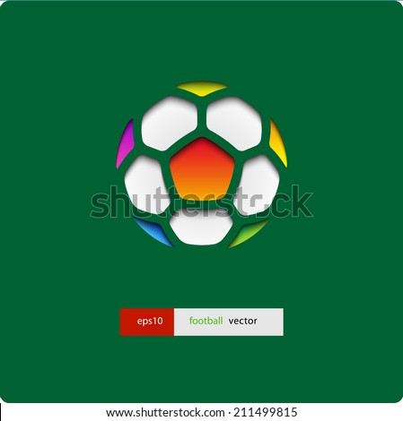 football (soccer) vector background, cover. Eps10. - stock vector