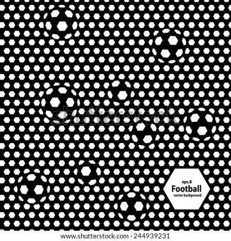 football (soccer) vector background, cover. Eps8. - stock vector