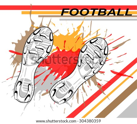 football sole. vector illustration