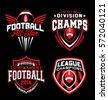 Football sport emblem set