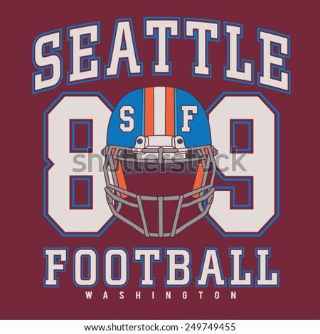 Football sport typography, t-shirt graphics, vectors - stock vector