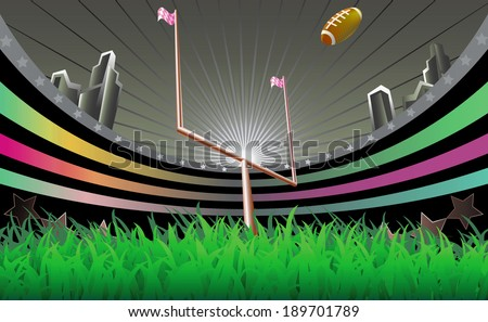 Football stadium. - stock vector