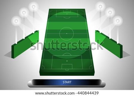 football stadium with light - stock vector
