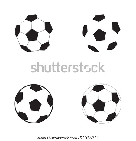 Football symbol soccer ball isolated on the white background - stock vector