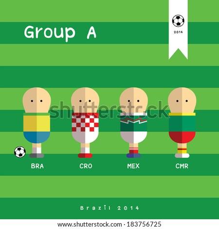 football team players vector cartoon   - stock vector