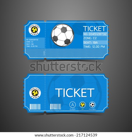 Football Ticket Card Retro design - stock vector