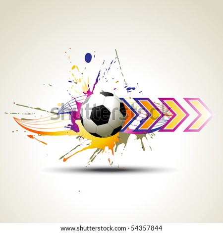 football vector artistic design illustration - stock vector