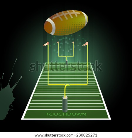 Football   vector  background. - stock vector