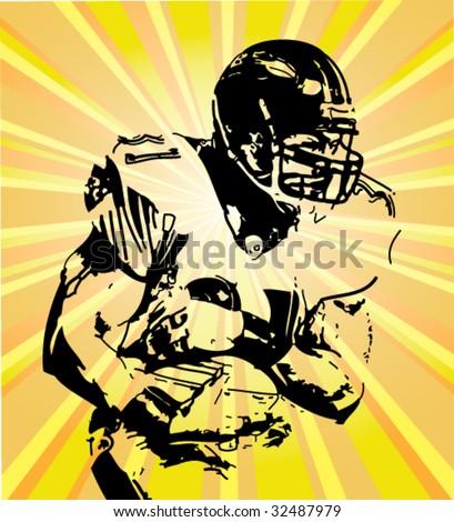 football vector poster - stock vector