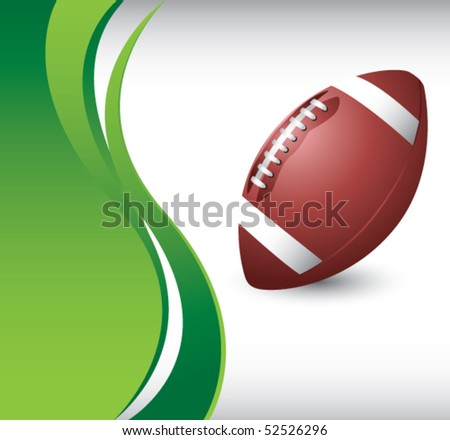 football vertical green wave background - stock vector