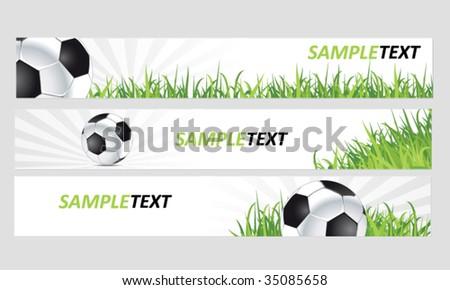 football web banners - stock vector