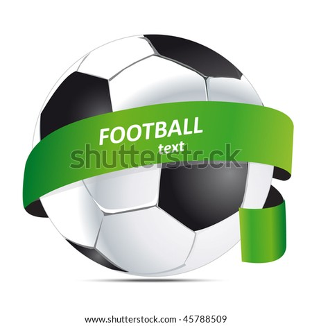 football with a ribbon - stock vector