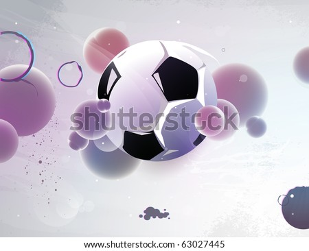 football with the abstract form of a sphere - stock vector