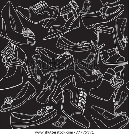 Footwear seamless pattern
