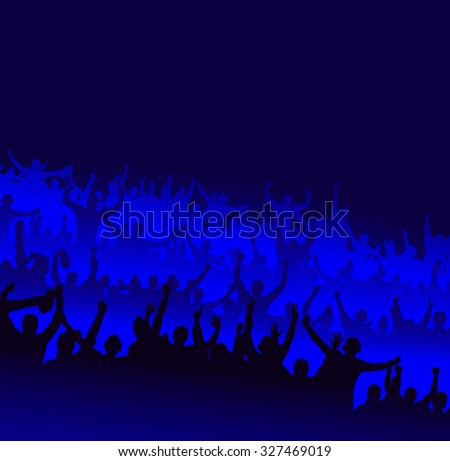 For concert and sports championship - stock vector