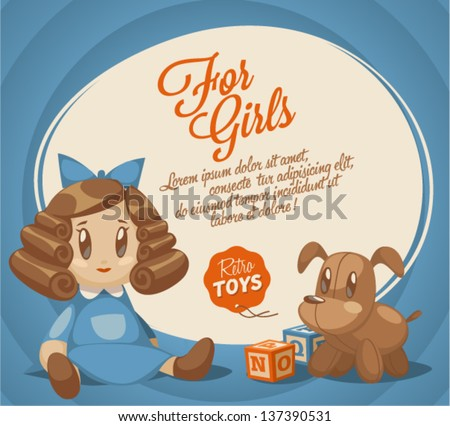 For girls backdrop - stock vector