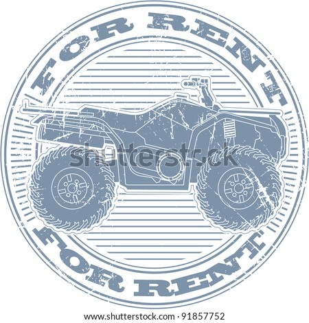 For rent stamp - stock vector