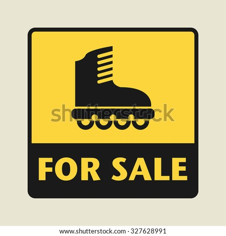 For Sale icon or sign, vector illustration - stock vector