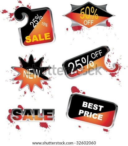 For sale icons - stock vector