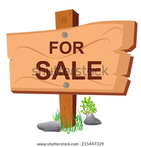 For, sale, real, estate, sign, - stock vector