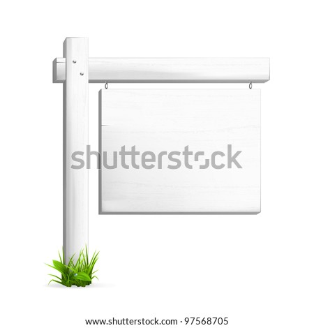 For sale sign, vector - stock vector