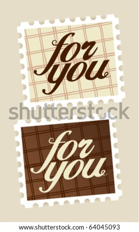 For you postage stamps set. - stock vector