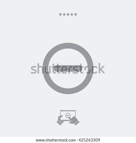 Forbidden access flat icon - stock vector