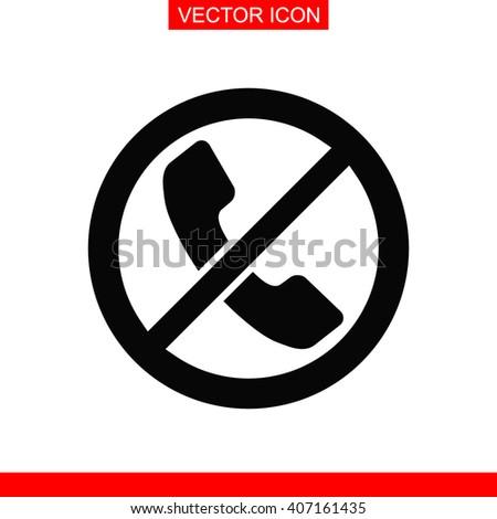 Forbidden call Icon. Forbidden call Vector. Forbidden call Icon Web. Forbidden call Picture. Forbidden call Image. Forbidden call Illustration. Telephone not allow sign. No phone icon. - stock vector