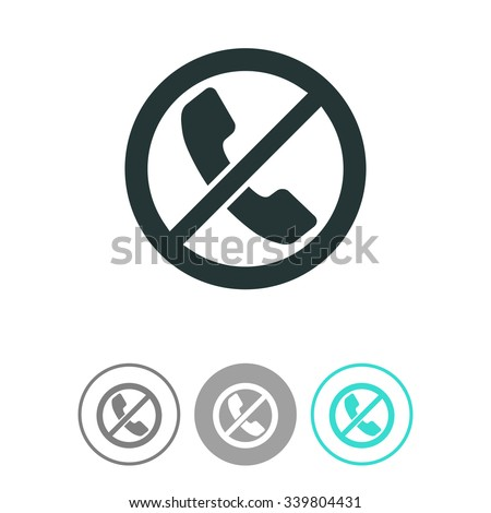 Forbidden call vector icon. - stock vector