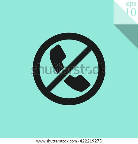 Forbidden call vector icon. Telephone not allow sign.No phone Icon. No phone Icon Vector. No phone Icon Sign. No phone Picture. No phone Image. No phone Illustration. No phone JPEG. No phone EPS10.  - stock vector