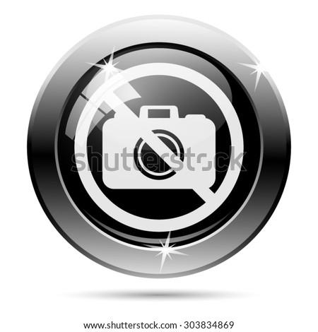 Forbidden camera icon. Internet button on white background. EPS10 vector  - stock vector