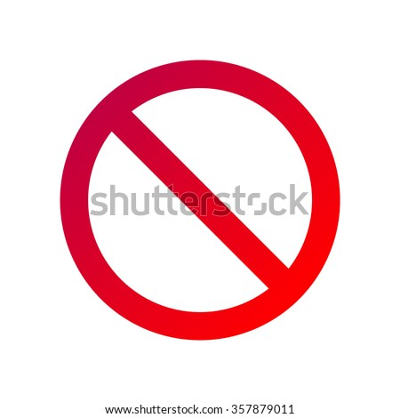 Forbidden sign isolated on white - stock vector