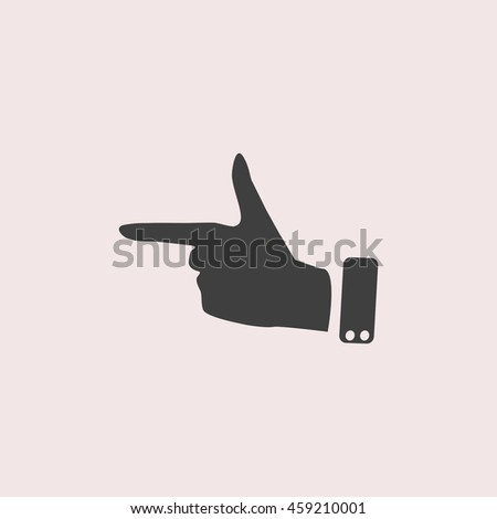 Forefinger web icon. Isolated illustration