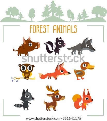 Forest animals - vector collection.