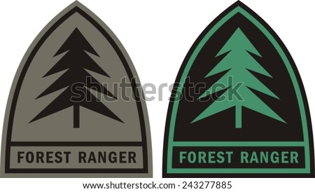 Forest ranger patch  - stock vector