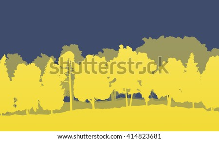 Forest vector background illustration landscape