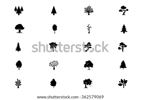 Forest Vector Solid Icons 5 - stock vector