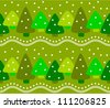 Forest winter seamless pattern - stock vector