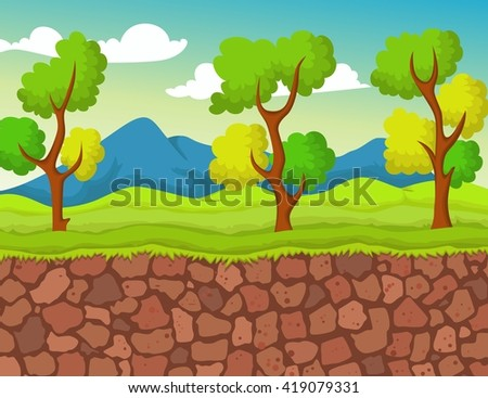 forest with stone view for you design