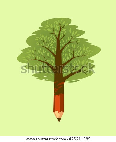 Forests damage. Concept vector illustration. - stock vector