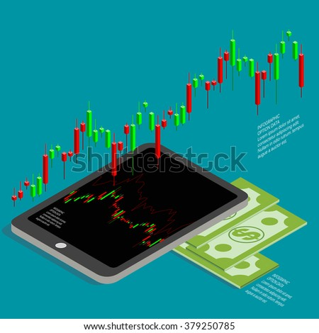 Forex Business Isometric Diagram Vector Design Template - stock vector