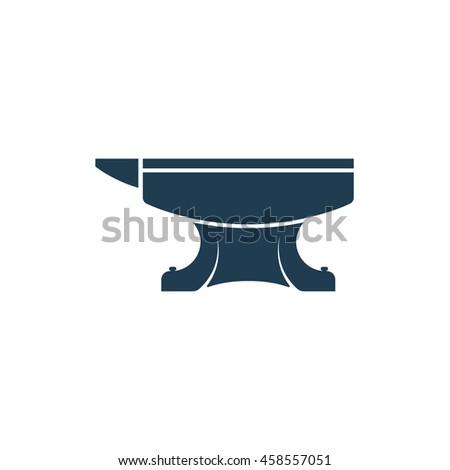 Forge. Anvil. Blacksmith. Icon. Vector illustration.  - stock vector