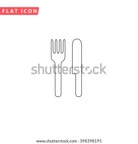 Fork and Knife Icon Vector. Fork and Knife Icon JPEG. Fork and Knife Icon Picture. Fork and Knife Icon JPG. Fork and Knife Icon EPS. Fork and Knife Icon AI. Fork and Knife Icon Drawing - stock vector