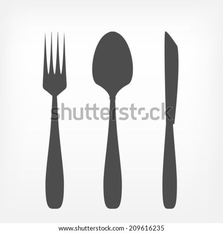 Fork spoon and knife set