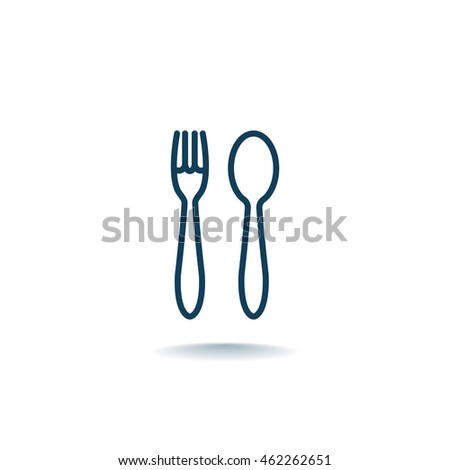 fork spoon Icon Flat.