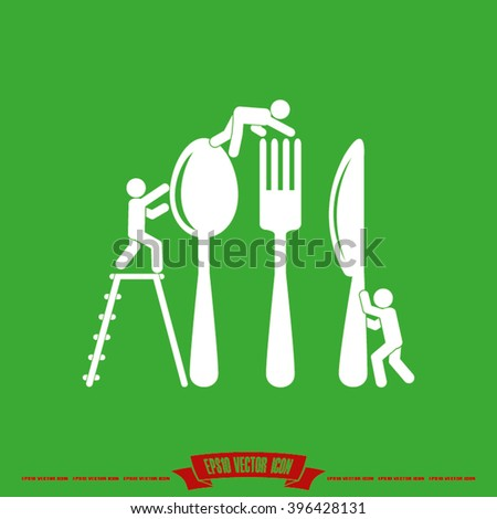Fork Spoon Knife Icon Vector